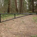 Black Metal Access Barrier