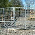 Metal mesh deer gate