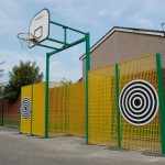 dual goal basketball and football frame