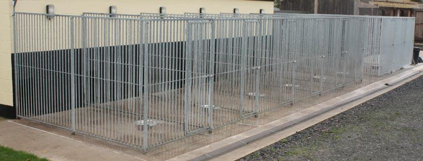 Metal Dog Fencing Kennels
