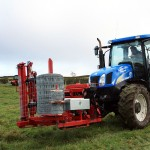 Tractor with fencing wire installation