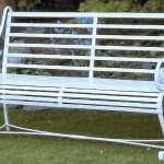 Slatted Bench 150x150 - Bollards, barriers and tree guards