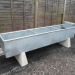 Metal feeding trough