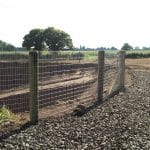 Stock Netting Fencing With Wooden Posts