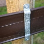 Brown stud fence for horses