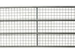 4 bar metal field gate with mesh