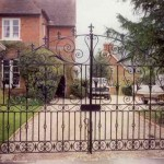 Ascott decorative metal gate on driveway