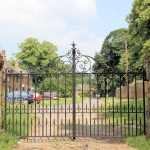 Campden decorative metal gate on driveway