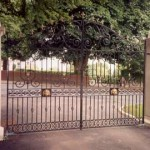Chepstow decorative metal gate on driveway