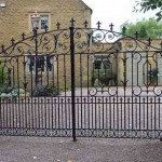 Compton decorative metal gate on driveway