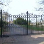 Dovers decorative metal gate on driveway