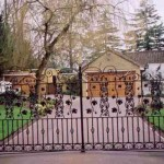 Wraysbury decorative metal gate on driveway