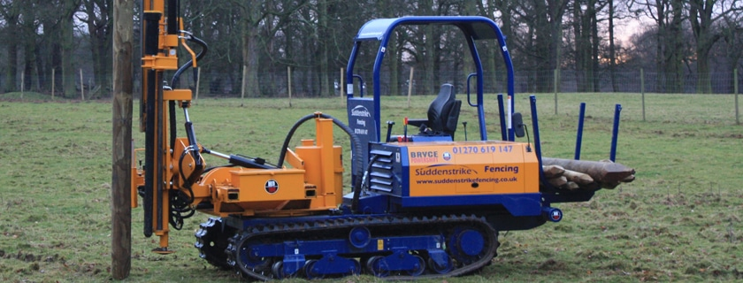 Bryce post driver fencing machinery