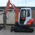 Kubota mounted auger fence post driver