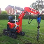 Kubota mounted auger fencing machinery