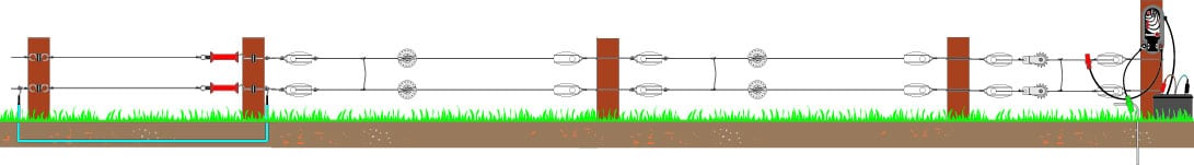 Electric pig fencing heights diagram