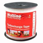 Reel of Hotline turbocharge tape for electric fencing
