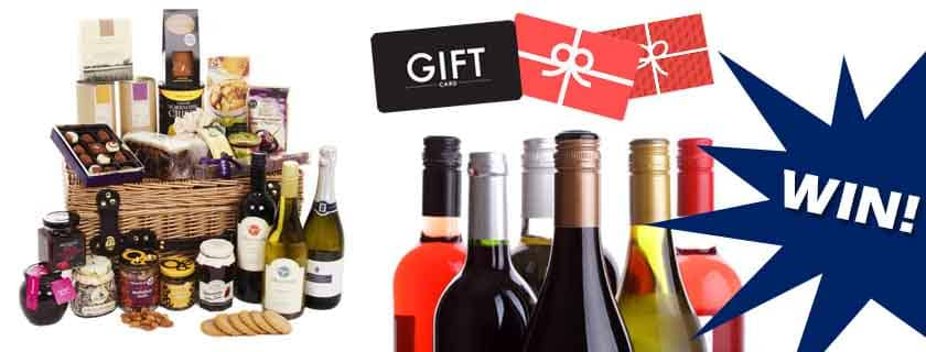 Competition prizes from Suddenstrike, hamper wine and gift vouchers