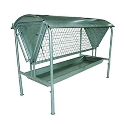 free standing hayrack 400x400 - Water troughs, piping and feed troughs