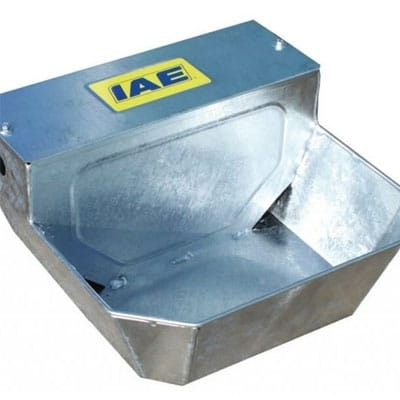 Galvanised steel universal water bowl