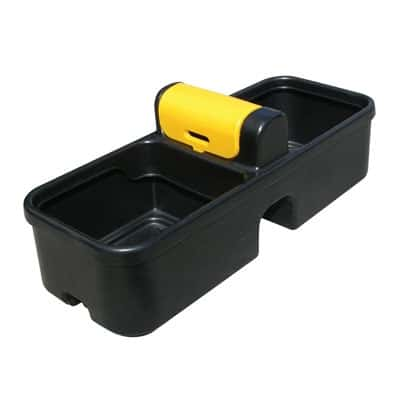 Black plastic double sided fast filling water trough