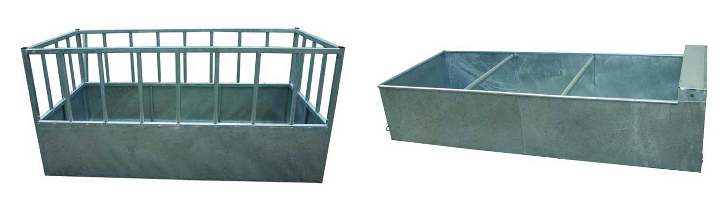 water feeding troughs - Water troughs, piping and feed troughs