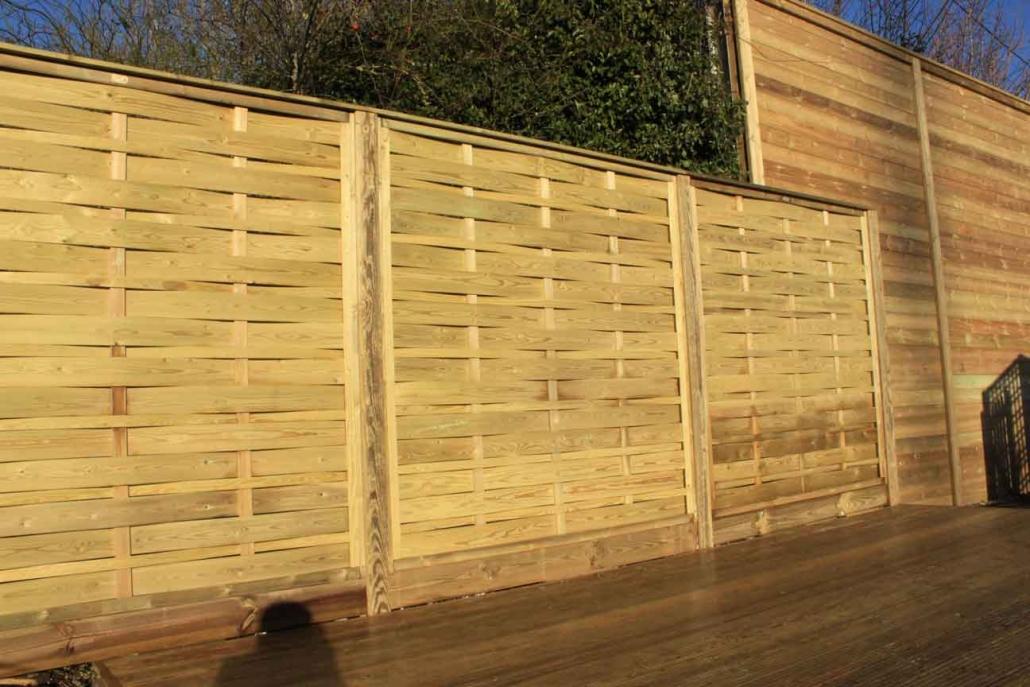 Wooden aran fence panels