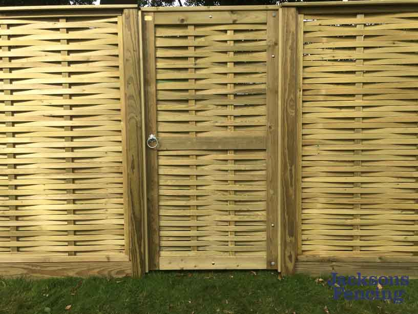 Wooden woven gate and panels